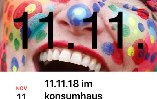 11.11.18 im konsumhaus ab 10:11 bis 19:11 Uhr
